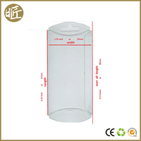 Custom clear plastic PVC/PET pillow box with hang hole