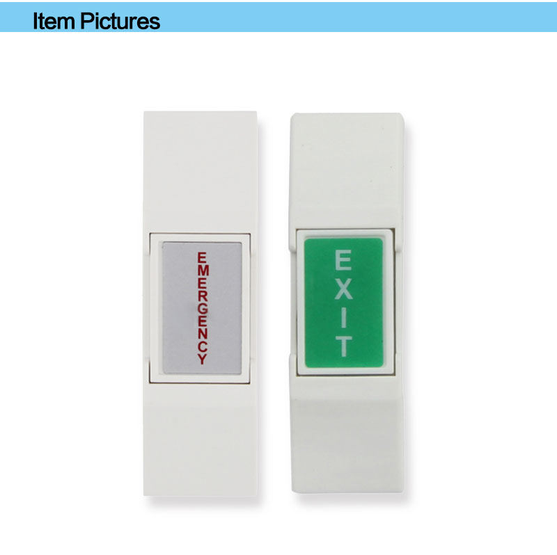 High Quanlity Plastic Push Door Release Button Emergency Exit Button for Home Security Alarm