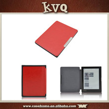 Book style e reader cover folio leather case for kobo aura 6 inch e reader
