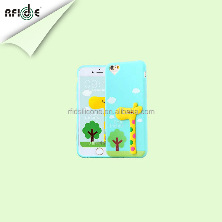Newest cute cartoon cube silicone custom phone case