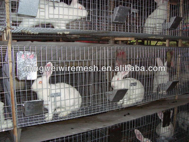 easy clean and portable rabbit cage with tray