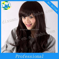 Scroll to pear flower wig fluffy face inclined bang Korean big wave girl wigs