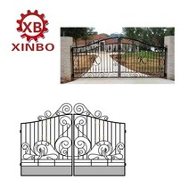 luxury wrought iron double gate metal piato gate antique steel gate iron door and windows