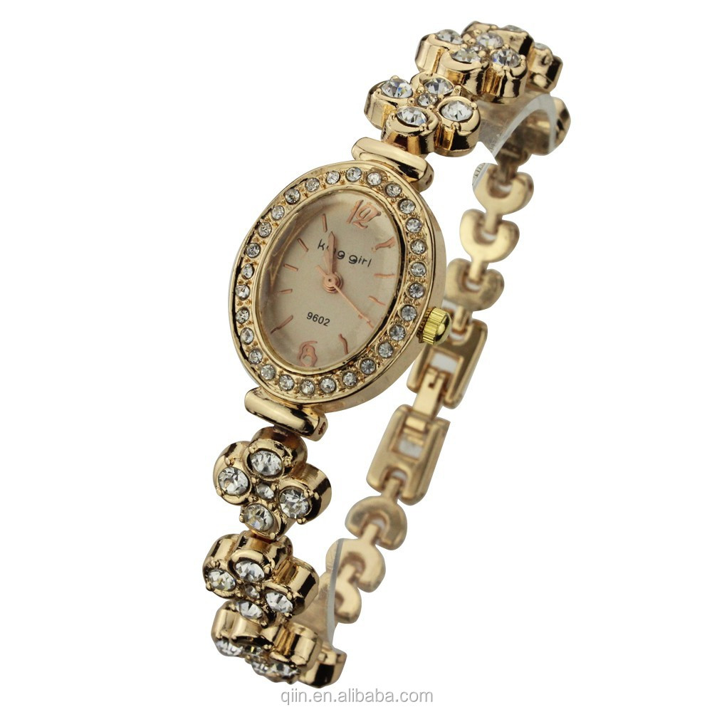 Q0106 Wholesale alibaba gold watch for ladies