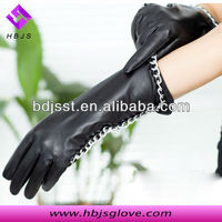 Ladies middle-long top grade fashion gloves for beauty dress