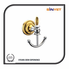 High quality Wall Mounted Bathroom Accessories Chrome Plated Brass Robe <strong>hook</strong> coat <strong>hook</strong>