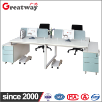 High quality 4 seat office computer desk wholesale / 4 people office desk