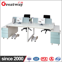 wholesale 4 people office desk high quality 4 seat office computer desk