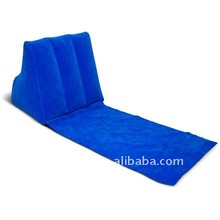 Inflatable Flocked Triangle Backrest Pillow For Camping