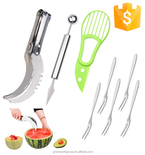 Watermelon Slicer Knife, Cantaloupe Melon Cutter For cutting all types of melons with ease-non-slip grip handle