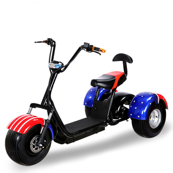 2019 Cheap Price CE/FCC/COC/EEC Beautiful And Luxurious Best three wheel electric motorcycle car Three Wheel Scooter Citycoco
