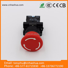 19mm metal push emergency stop button 12V led switch