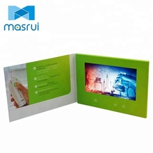 High quality 7 inch TFT LCD video brochure in print for advertising