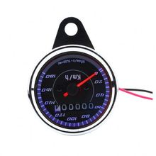 Double Color LED Light Universal Motorcycle Odometer Speedometer meter For Motorcycle