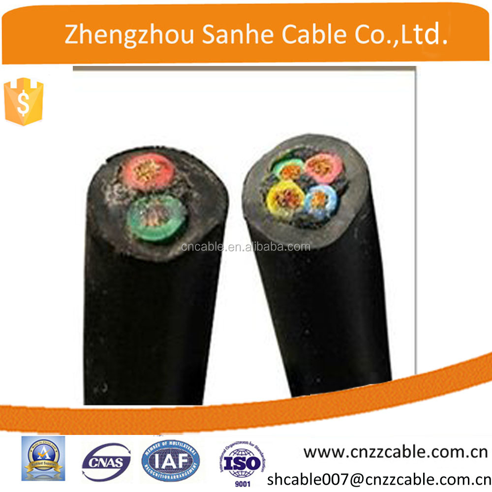 HO7RN-F/HO5RN-F Copper/CCA conductor rubber/PVC insulated Power cable