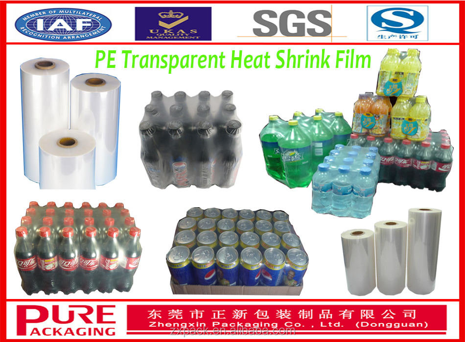 Soft Hardness and Packaging Film Usage PE heat shrink film