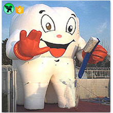 Cute Toothpaste Advertising Inflatable Tooth Large Teeth Inflatable With Toothbrush A1000