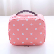 Lovely travel toiletry bag waterproof retro dot pattern make up bag cosmetic bag