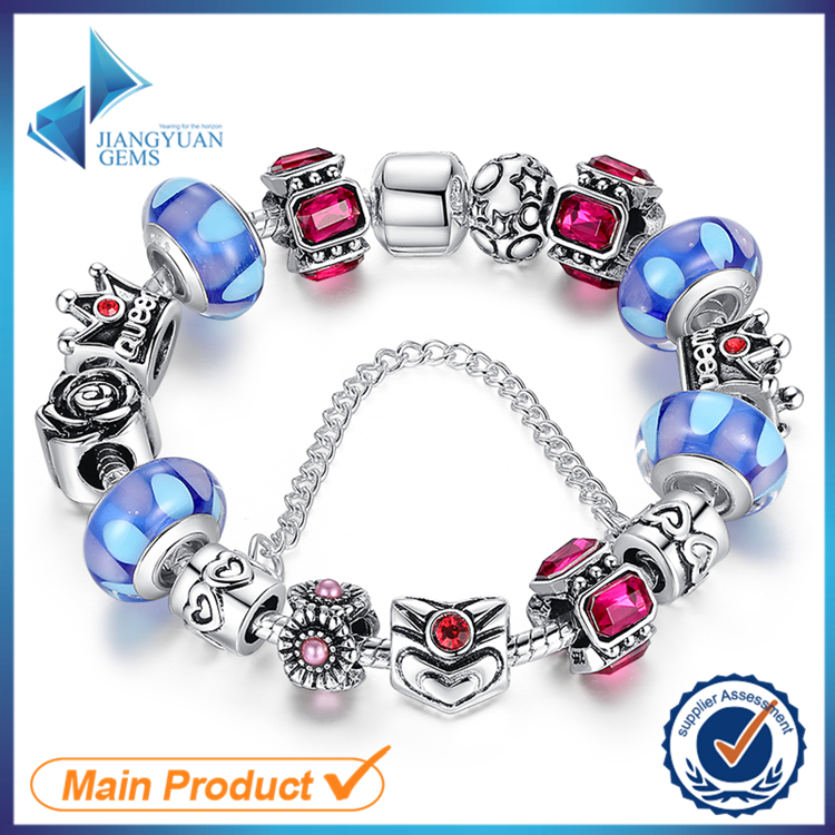 crystal colorful beads personalized bracelets cheap