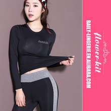 New Yoga Clothing <strong>Sports</strong> Long-Sleeved T-Shirt Round Neck Quick Drying Sweat Fitness Running Clothing