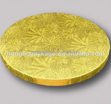 Round/Square/Rectangle Gold Paper Cake Drum Wholesale