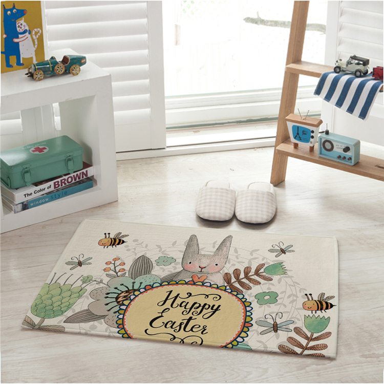 In Stock Children Play Rug Eco Friendly Baby Room Rug For Living Room