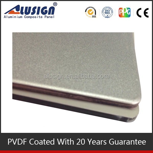 Alusign elastic and unbroken frp honeycomb aluminum composite panel wall decorative material