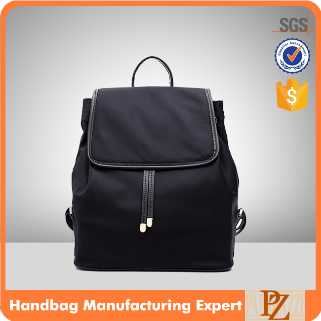 M1018A wholesale black color nylon bags backpack bags