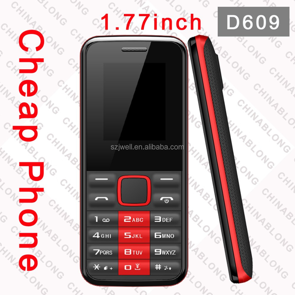 High Quality Dual SIM smart D609 latest slim bar mobile phones for sale