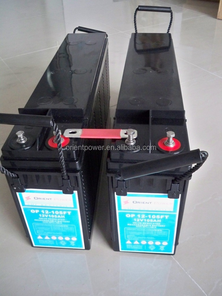 Find 100Ah Front Terminal Battery Telecommunication 12 V telecom battery Front Access Batteries Catalogue and price