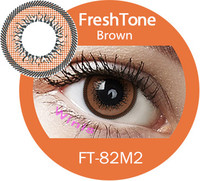 FreshTone cute big size yearly color contact lens 15mm - in stock now