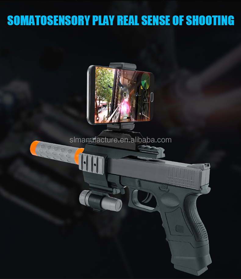 2017 Best Selling wireless ABS plastic irtual reality games plastic ar gun