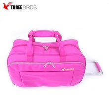 High quality unisex trolley travel bag sport tote nylon rolling duffel bag online shopping