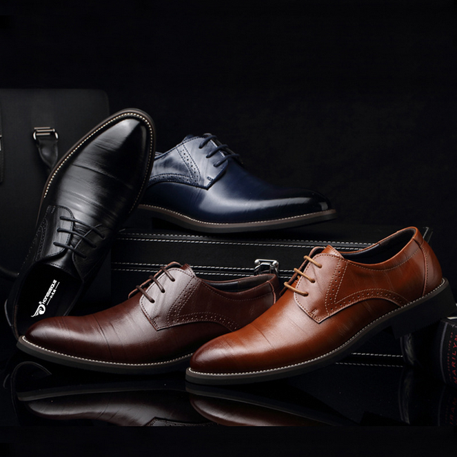 2016 plus size leather shoes wholesale men dress shoes
