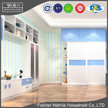 foshan furniture kids clothes sliding door bedroom wardrobe