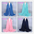 Wholesale plain new lace border muslim hijab shawls islamic scarves/scarf GBS199