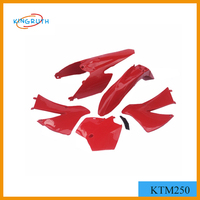 High quality ABS KTM250 motorcycle body plastic kits