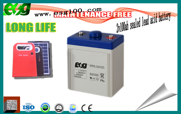 100ah LEAD ACID BATTER 2V 100AH WITH LOW PRICEsolar energy storage ups rechargeable 2v sealed lead acid battery