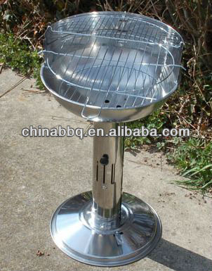 Stainless Steel Pedestal Barbeque vertical grill, as seen on tv