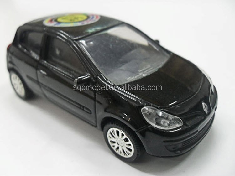1:43 scale metal renault clio oem toy car model
