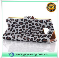 2016 trending products leopard pattern wallet leather cover for Samsung galaxy note 3 pu leather flip cover stand case