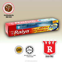 Raiya Natural Mint Toothpaste (Red) With Toothbrush 175g