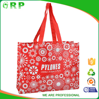 Customized Eco recycle lovely pp woven cloth shopping bag
