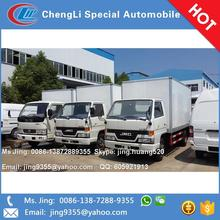 Made in China Euro IV JMC refrigerated cold room van truck 12-13cbm refrigerated van box