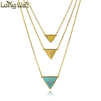Trendy Multy-layered Triangle Pendant Necklace For Women