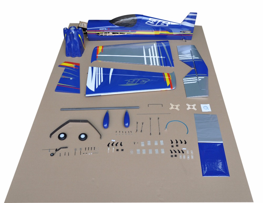 "aeromodelling planes MXS-R 75"" 30CC balsa wood model airplanes kits"