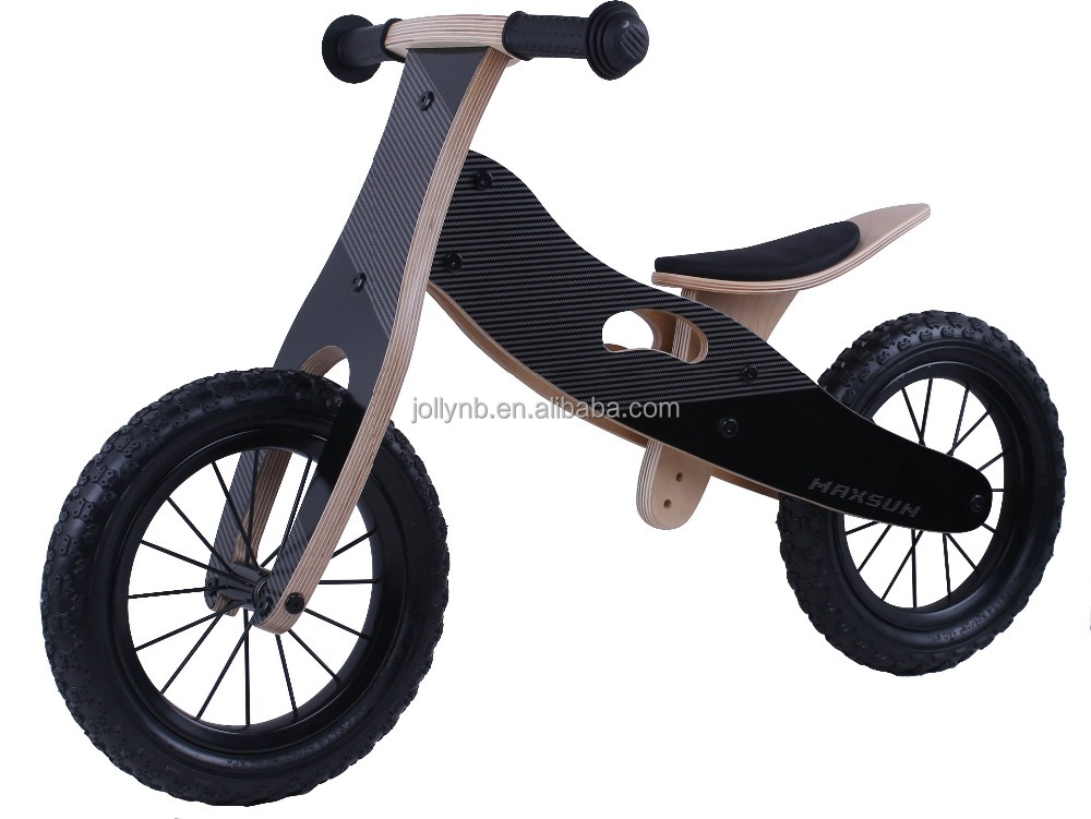 2017 Hot Sale Wooden Balance Bicycle with Carbon fiber for Kids Balance Training