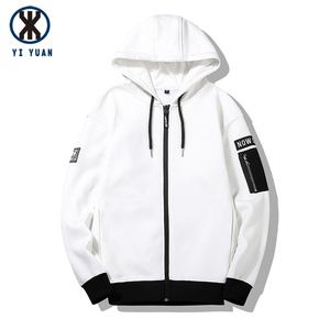factory direct fashion white hoodie custom 2018