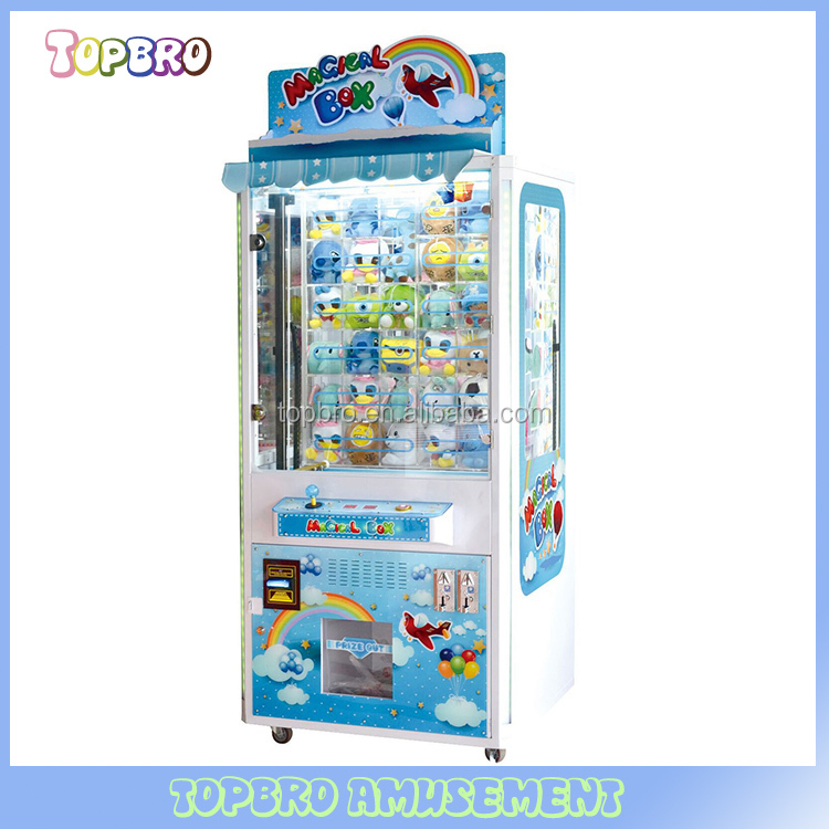 magical box push win prize gift game machine