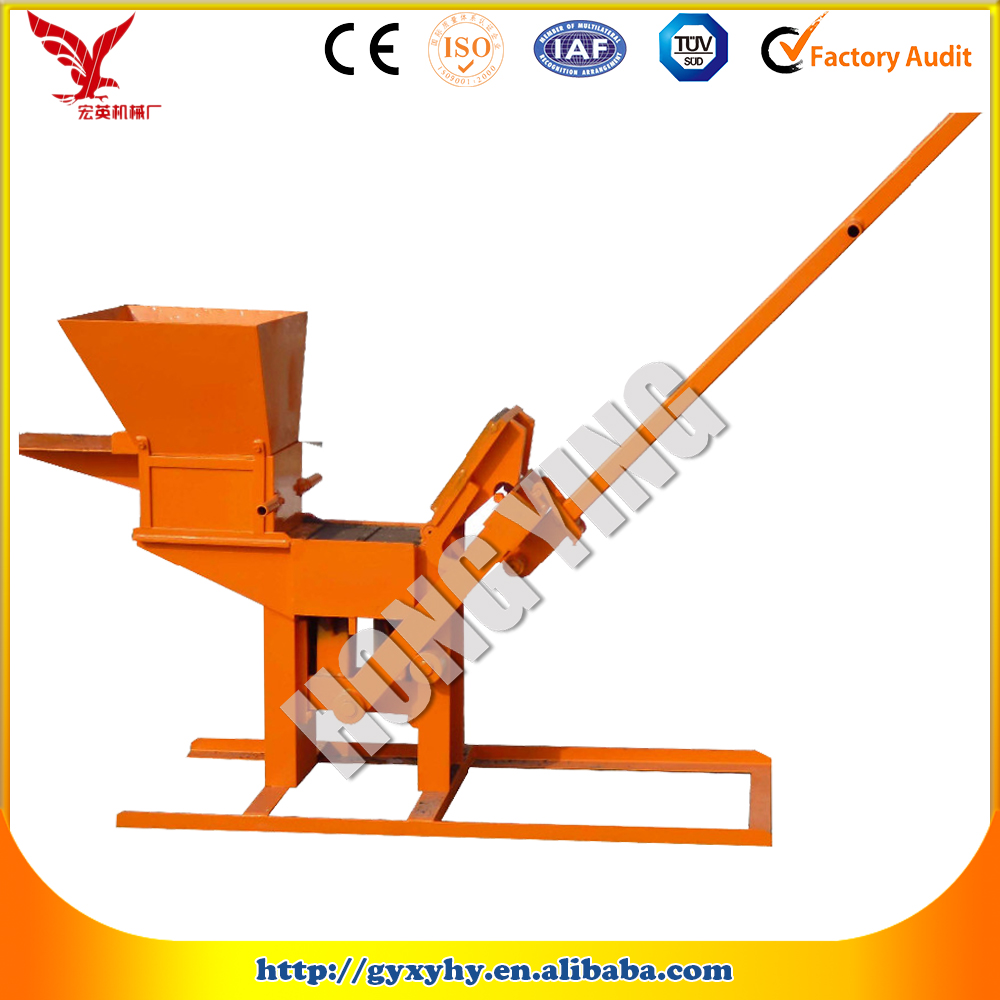 Customize Moulds and Color JZ-1 Interlocking Stabilized Soil Block Machine / Interlocking Block Making Machine